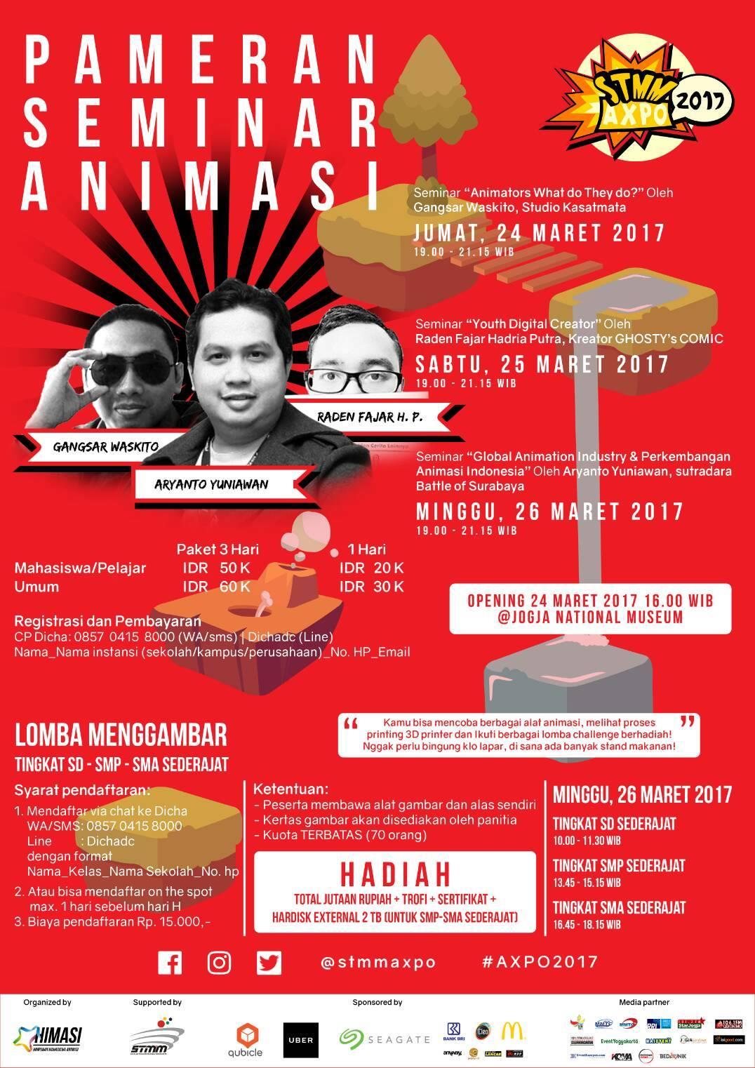 PAMERAN SEMINAR ANIMASI : STMM AXPO 2017