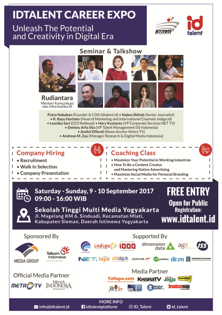 "CAREER EXPO STMM ""MMTC"" – IDTALENT 2017"