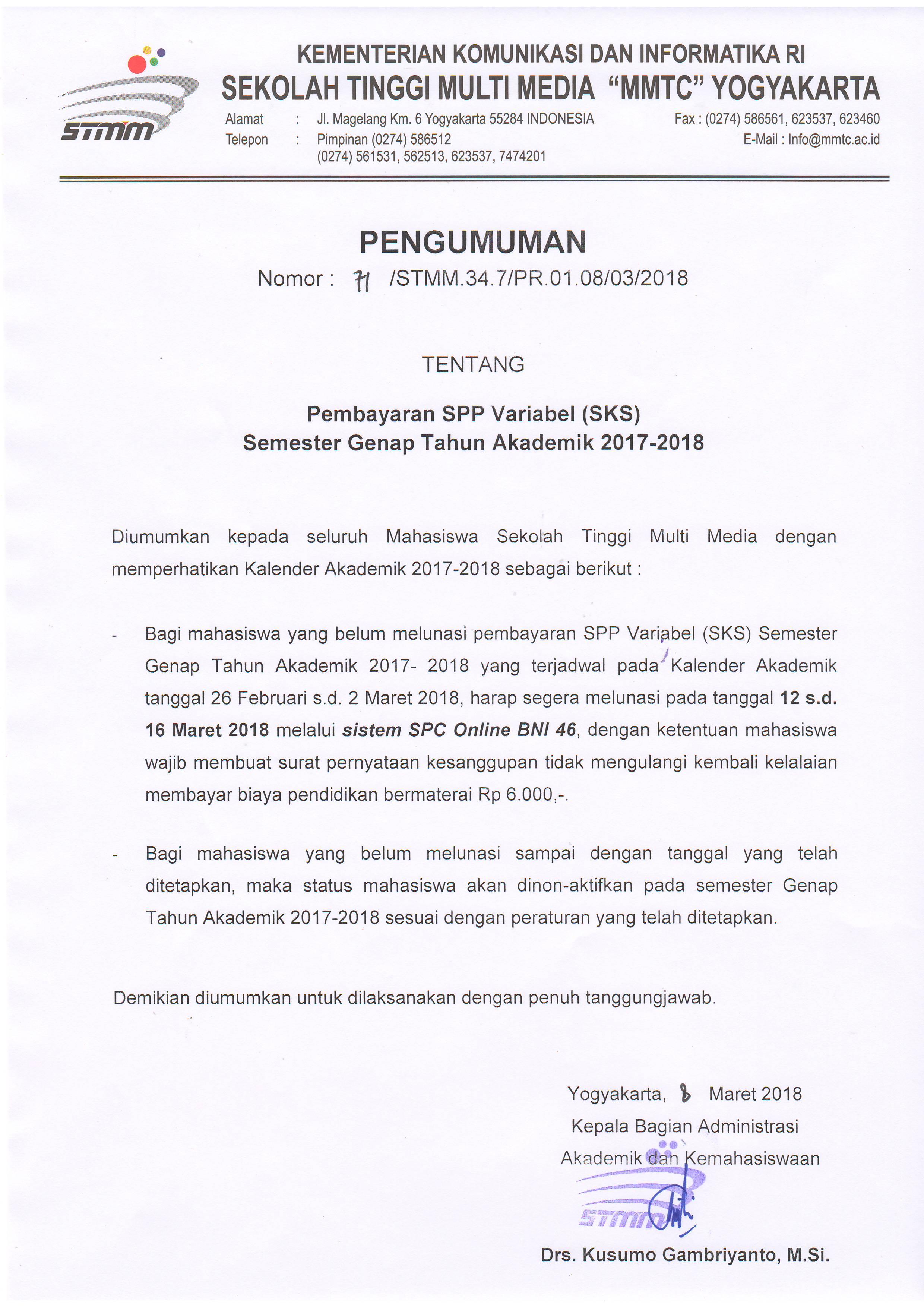 Surat Pernyataan Kesanggupan Membayar Biaya Pendidikan Bagi Contoh Surat