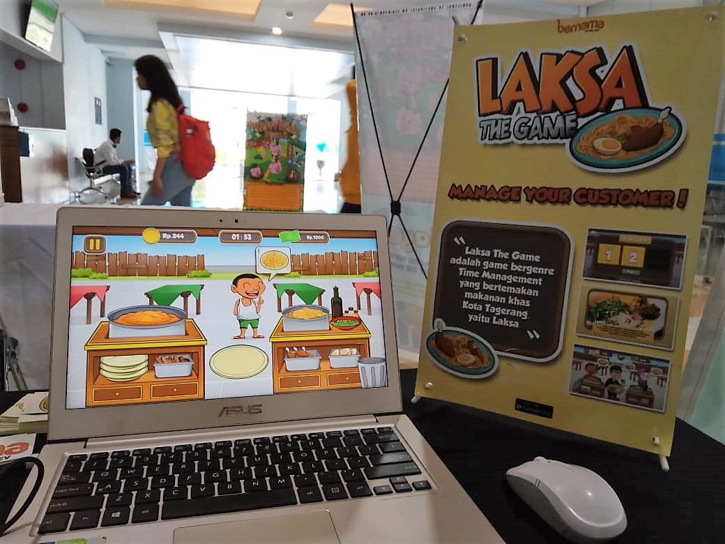 -Pameran Desain Teknologi Permainan   Tangkas Sajikan Laksa, Pelanggan Membanjir Rezeki Mengalir