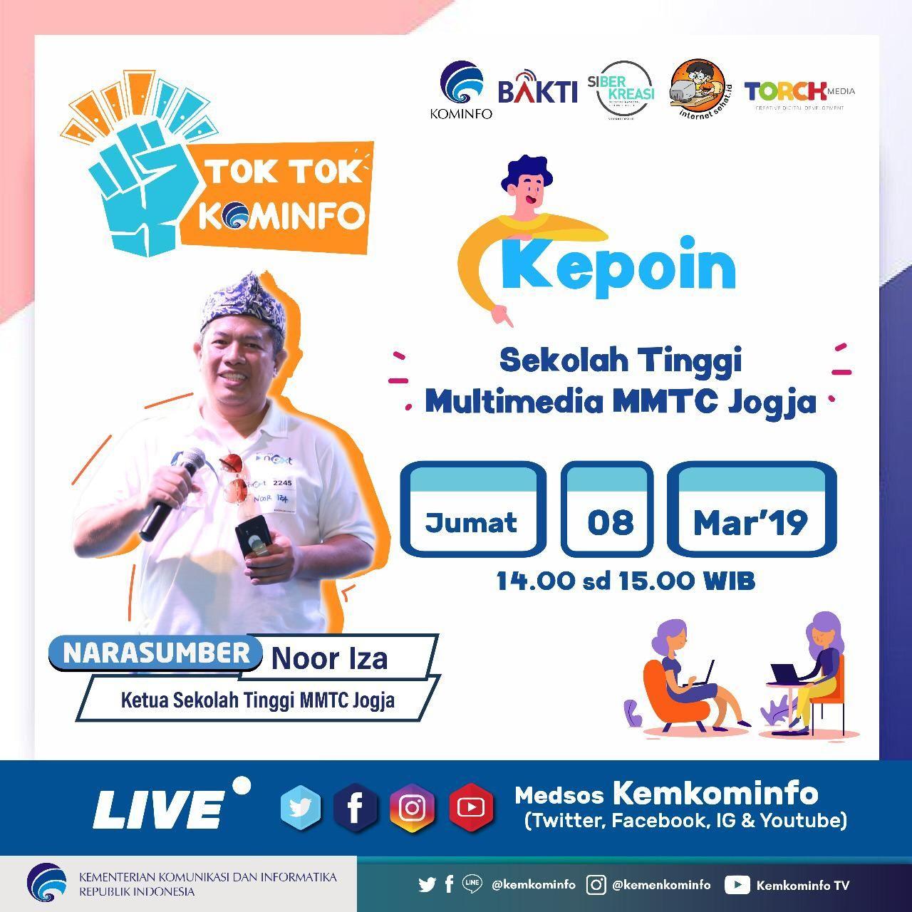 Live Tok Tok Kominfo - Kepoin Sekolah Tinggi Multimedia