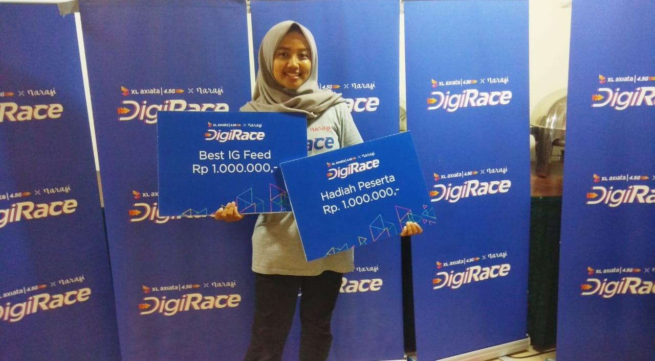Salsabila, Mahasiswa Prodi Manarita  Raih Juara dalam Kompetisi Digirace XL Axiata & Narasi TV