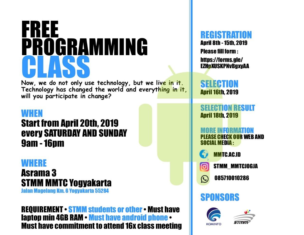 Free Programming Class