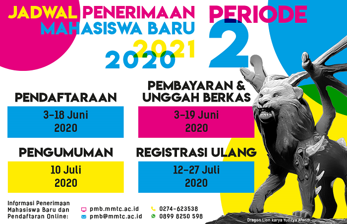 Penerimaan Mahasiswa Baru Sekolah Tinggi Multi Media Periode II Dibuka 3 Juni 2020
