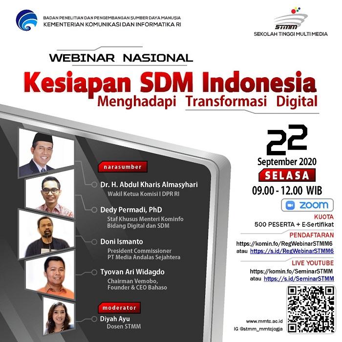 Webinar STMM Series #6: KESIAPAN SDM INDONESIA MENGHADAPI TRANSFORMASI DIGITAL