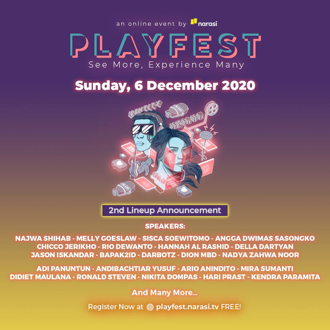 Narasi TV Ajak Mahasiswa STMM Ikuti PlayFest 2020